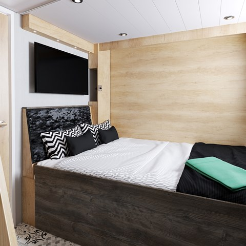 S-Pod 6 Escape Bed Made Up