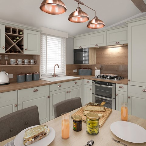 Vendee Holiday Home Kitchen