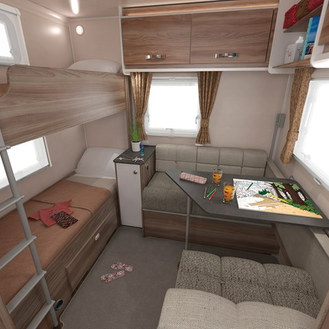 Sprite Major 6TD Rear Seating And Bunks
