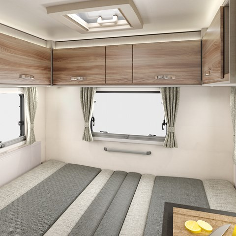 Edge 486 Rear Lounge Bed Made Up